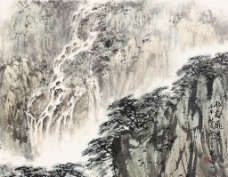 松壑飞瀑图片