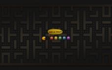 高清 2D 彩色可爱吃豆人 背景图片