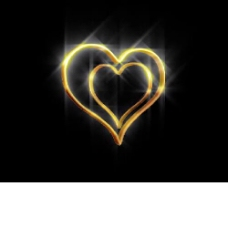 金光闪闪的心形