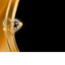 金色心形动态边框