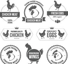 公鸡标签图片