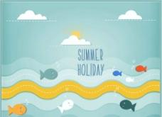 夏天旅游设计图片