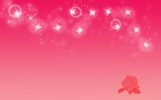 粉红色玫瑰泡泡背景