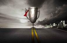 奖杯广告设计模板