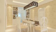 欧式装修餐厅效果图图片