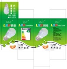 led球泡灯包装展开图片