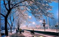 雪后街景图片