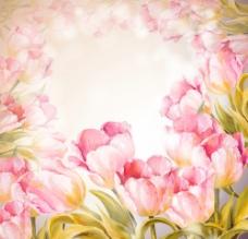 手绘郁金香图片