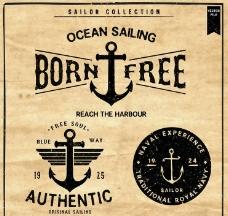 航海图标水手图标船锚图片