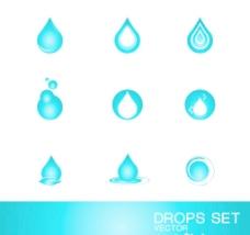 水滴标志模板图片