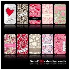 浪漫心形花纹卡片