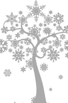 雪花树图片