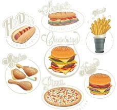 快餐汉堡麦当劳肯德基图片