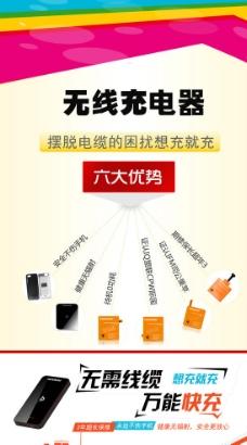 无线充电器产品易拉宝图片