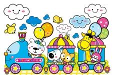 开火车的动物图片