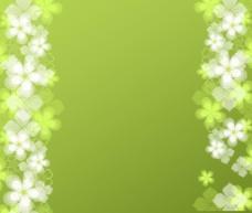 绿色小花背景图片