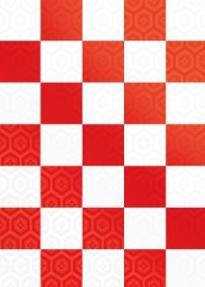 红白棋盘格背景图
