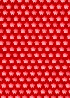红色五角碎花排列背景图