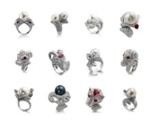 十二星座南洋珍珠戒指图片