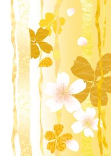 黄白碎花渐变背景图