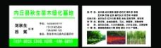 绿化 名片图片