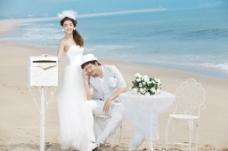 海景主题 婚纱样片图片