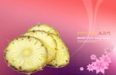 素雅高端风格韩文水果广告海报素材