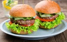 汉堡包套餐图片素材