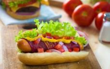 汉堡包套餐图片素材下