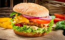 汉堡包套餐图片