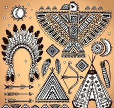 美国土著印第安人图标图片