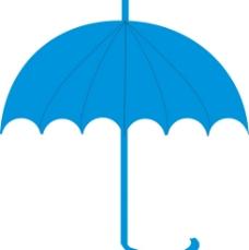线条简单伞卡通图片