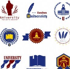 大学学院标签贴纸