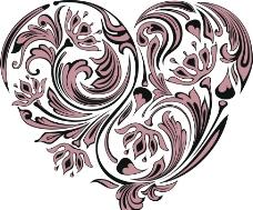 爱心花纹图片