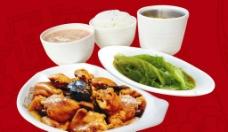 香菇鸡套餐图片