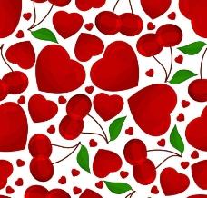 情人节爱心樱桃图片
