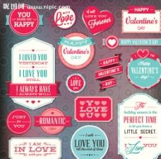 情人节标签图片
