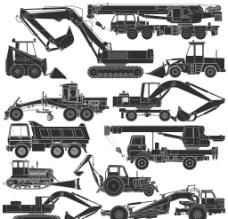 工程建筑工具剪影图片
