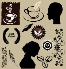 简洁咖啡标签