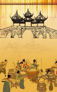 古代做豆腐流程图片