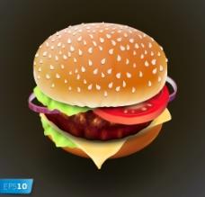 漢堡快餐 快餐圖片