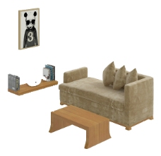 休闲沙发素材