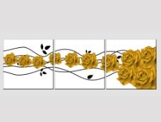 金玫瑰无框画图片