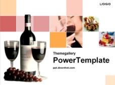红酒销售渠道PPT模板