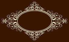 椭圆形欧式边框矢量素材