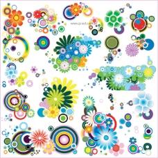 多款可爱潮流花朵元素矢量素材