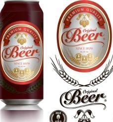 啤酒商標圖標設計圖片