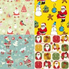 可爱的圣诞老人壁纸矢量素材