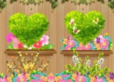 浪漫绿色桃心图片